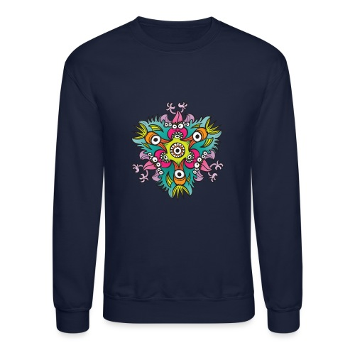 Doodle art in the form of crazy hungry monsters - Crewneck Sweatshirt