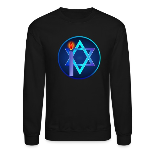 Star Of David and Light - Crewneck Sweatshirt