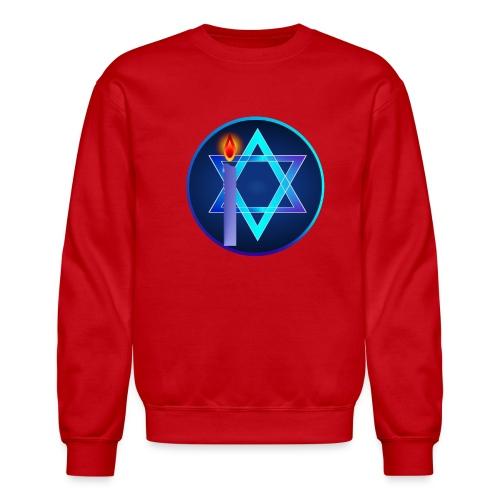 Star Of David and Light - Crewneck Sweatshirt