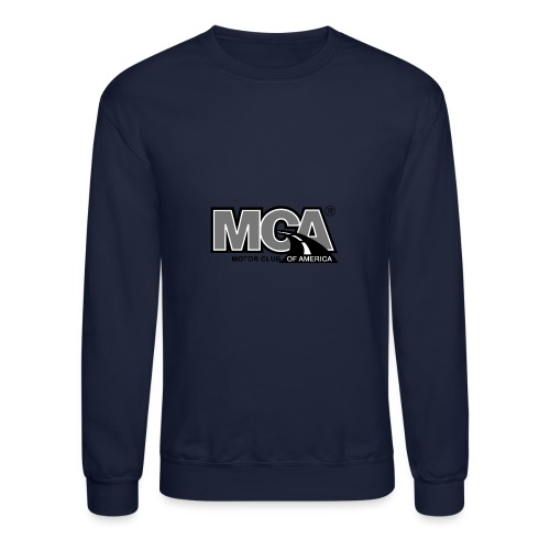 MCA Logo WBG Transparent BLACK WHITE TITLEfw fw pn - Unisex Crewneck Sweatshirt