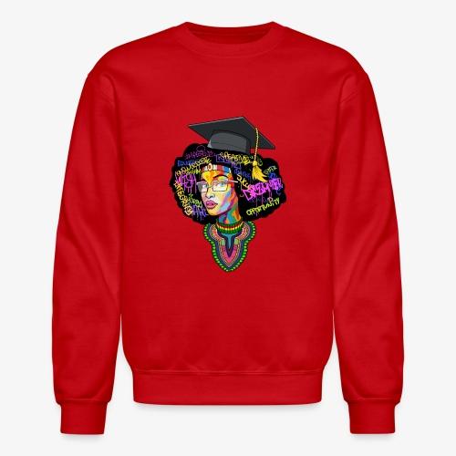 Melanin Women Afro Education - Crewneck Sweatshirt
