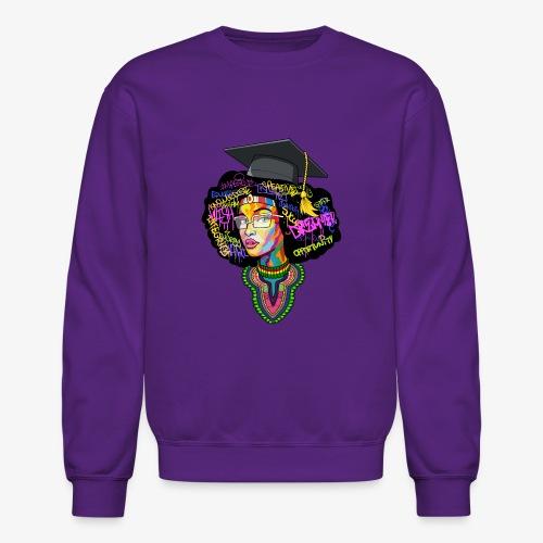 Black Educated Queen School - Crewneck Sweatshirt