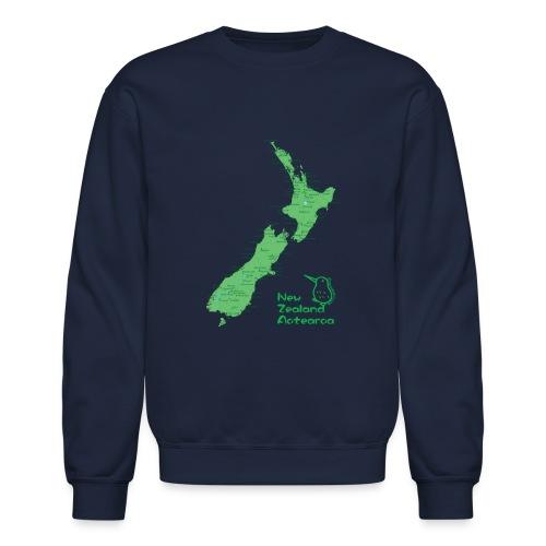 New Zealand's Map - Crewneck Sweatshirt