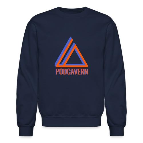 PodCavern Logo - Unisex Crewneck Sweatshirt