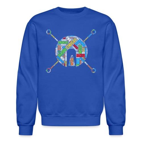 Shad0w Synd1cate Logo Word Cloud (Color) - Crewneck Sweatshirt