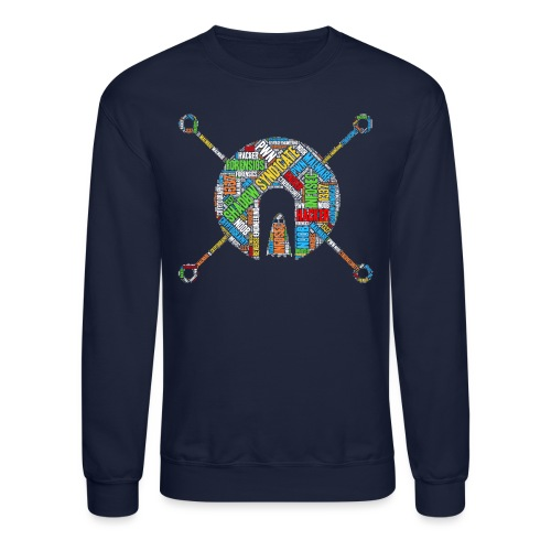 Shad0w Synd1cate Logo Word Cloud (Color) - Unisex Crewneck Sweatshirt