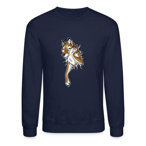 STUCK Wolf Caramel (double-sided) - Unisex Crewneck Sweatshirt