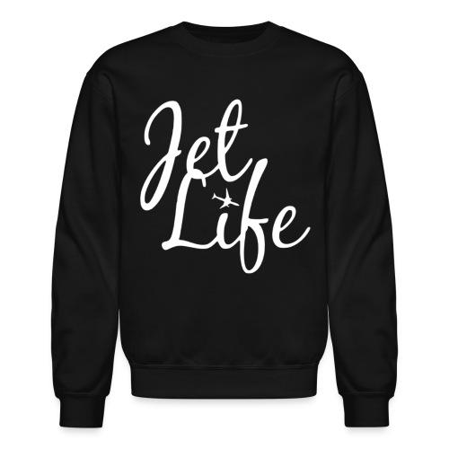 jetlifelogowhite - Unisex Crewneck Sweatshirt