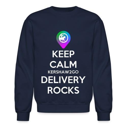 Keep Calm KC2Go Delivery Rocks - Unisex Crewneck Sweatshirt