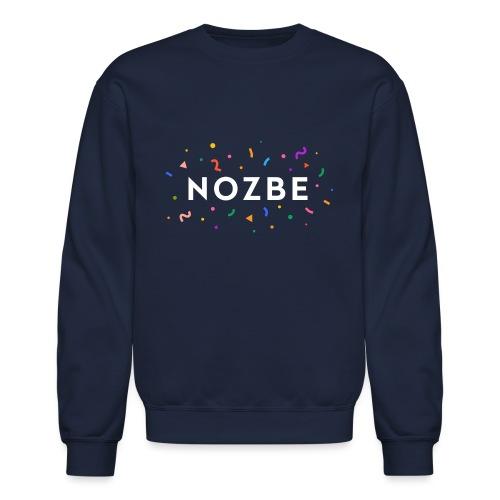 Confetti Nozbe logo in white - Unisex Crewneck Sweatshirt