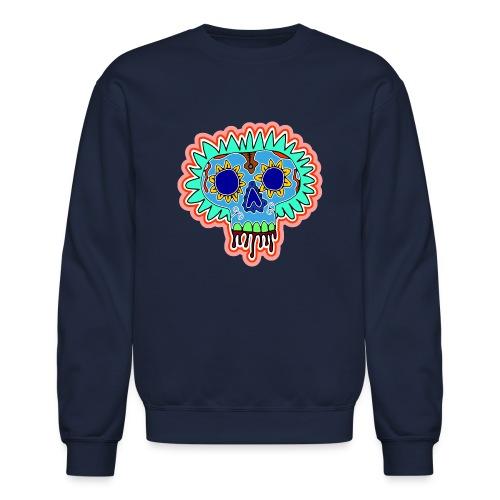 Hippy Día de Muertos - Unisex Crewneck Sweatshirt