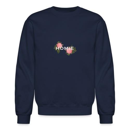 HOMIE WHT PNK ROSE - Unisex Crewneck Sweatshirt