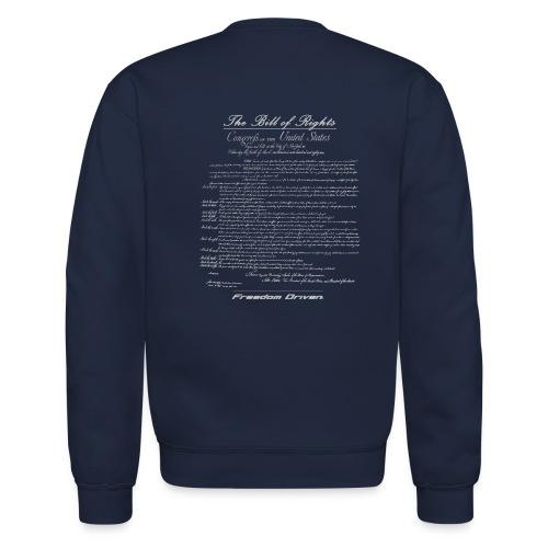 US Bill of Rights Grey Lettering - Unisex Crewneck Sweatshirt