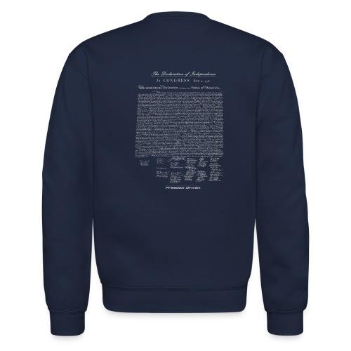 Declaration of Independence Grey Lettering - Unisex Crewneck Sweatshirt