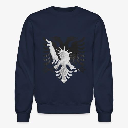 Albanian Born + New York Raised (No Text - Women's - Crewneck Sweatshirt