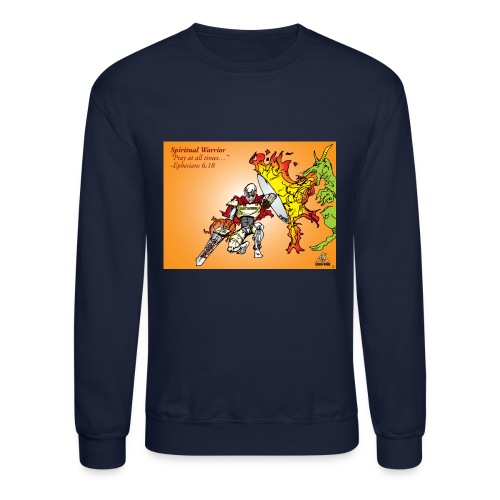 Spiritual Warrior by Faith T-Shirt Pray times - Crewneck Sweatshirt