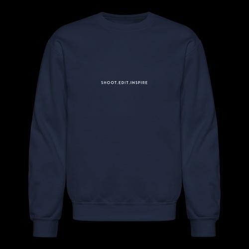 shoot edit inspire large - Crewneck Sweatshirt