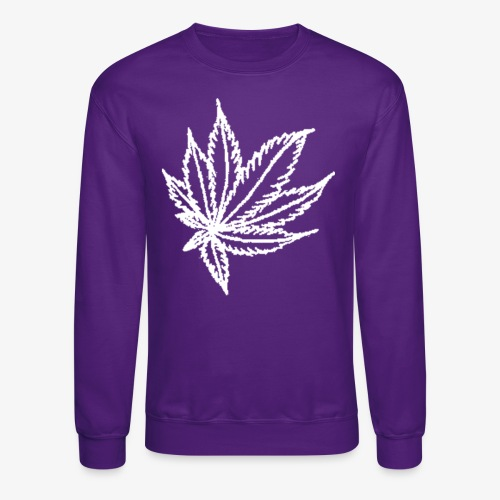 white leaf - Crewneck Sweatshirt