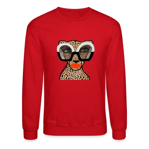 Cheetah In Shades - Unisex Crewneck Sweatshirt