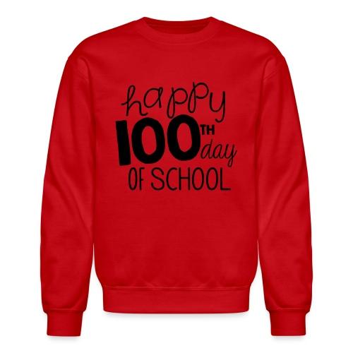 Happy 100th Day of School Chalk Teacher T-Shirt - Crewneck Sweatshirt