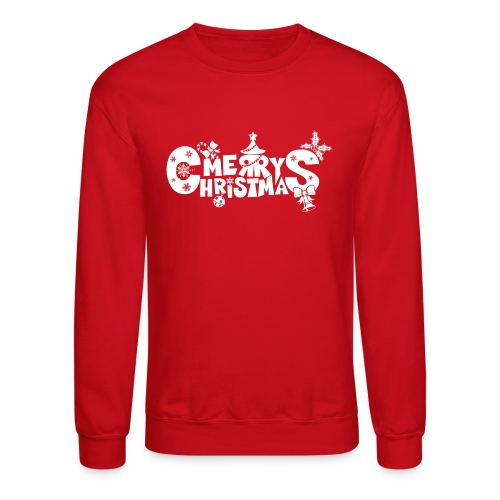 Merry Christmas blanco - Crewneck Sweatshirt