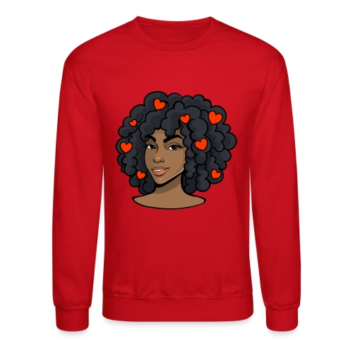 love black women - Unisex Crewneck Sweatshirt
