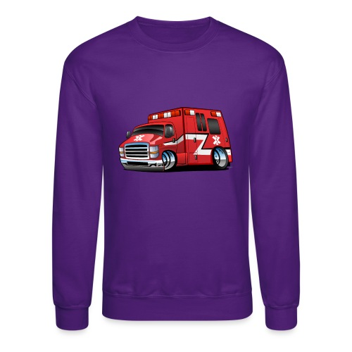 Paramedic EMT Ambulance Rescue Truck Cartoon - Crewneck Sweatshirt