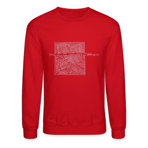 Happiness (White Print) - Crewneck Sweatshirt