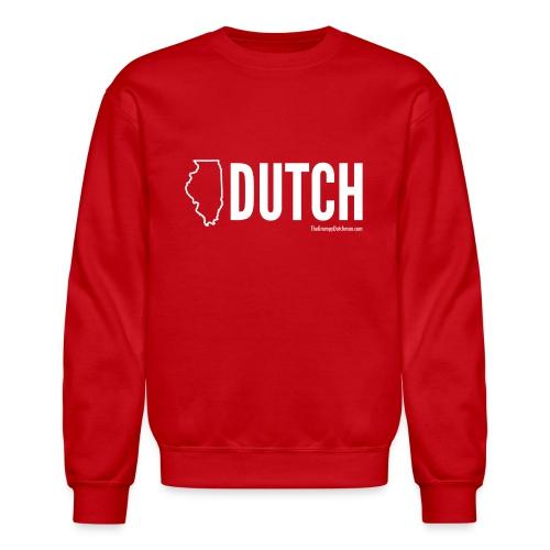 Illinois Dutch (White Text) - Crewneck Sweatshirt