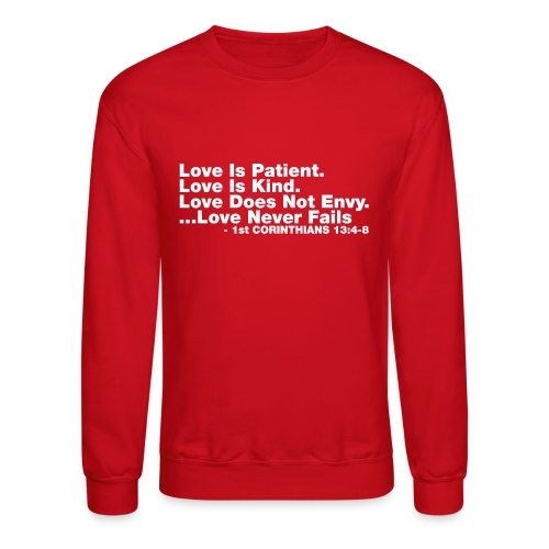 Love Bible Verse - Crewneck Sweatshirt