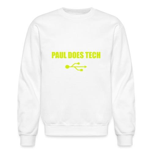 Paul Does Tech Yellow Logo With USB (MERCH) - Crewneck Sweatshirt
