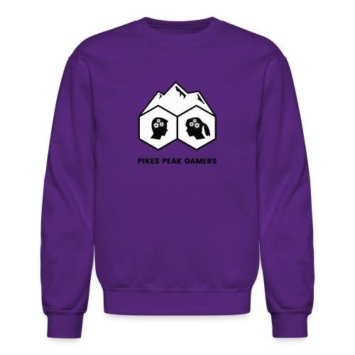 Pikes Peak Gamers Logo (Solid White) - Crewneck Sweatshirt