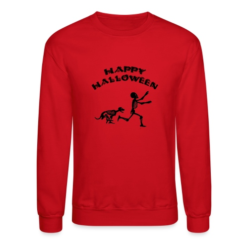 Halloween Boy and Dog - Crewneck Sweatshirt