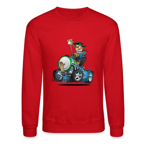 Hot Rod Electric Car Cartoon - Crewneck Sweatshirt