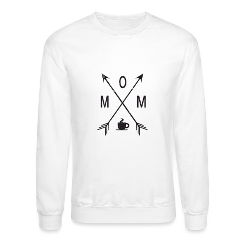 Mom Loves Coffee (black ink) - Crewneck Sweatshirt
