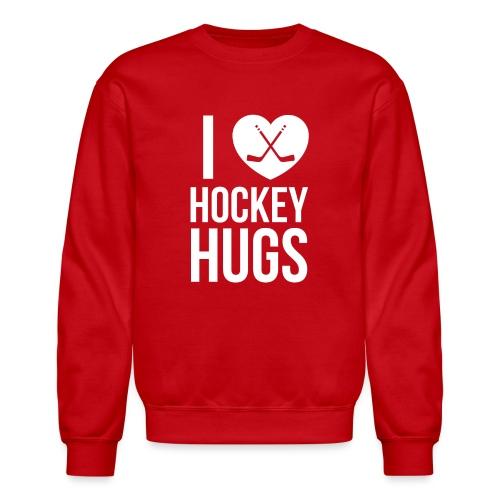 I [Heart] Hockey Hugs - Unisex Crewneck Sweatshirt