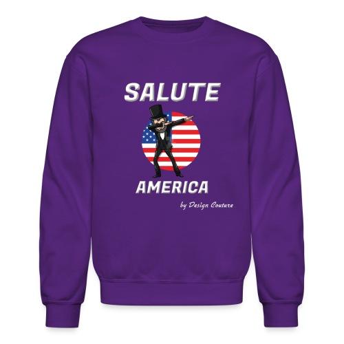 SALUTE AMERICA WHITE - Crewneck Sweatshirt