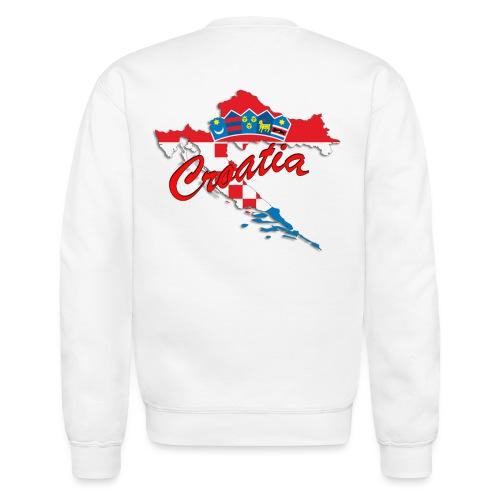 Croatia Football Team Colours T-Shirt Treasure Des - Crewneck Sweatshirt