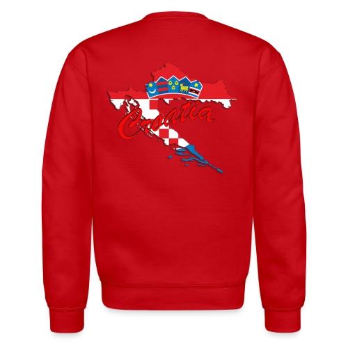 Croatia Football Team Colours T-Shirt Treasure Des - Unisex Crewneck Sweatshirt