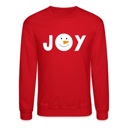 JOY - Snowman Christmas Design! - Unisex Crewneck Sweatshirt
