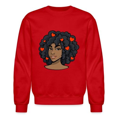 love black women - Unisex Crewneck Sweatshirt