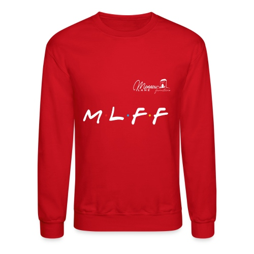 MLFF with logo white - Unisex Crewneck Sweatshirt