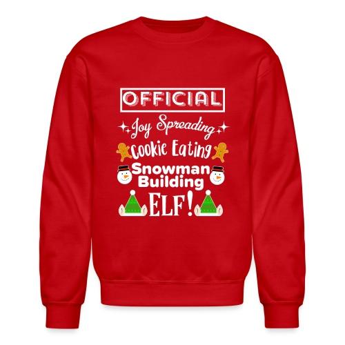 Christmas Design - Official Elf! - Unisex Crewneck Sweatshirt