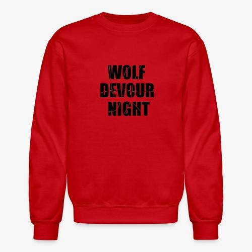 Wolf Devour Night - Unisex Crewneck Sweatshirt