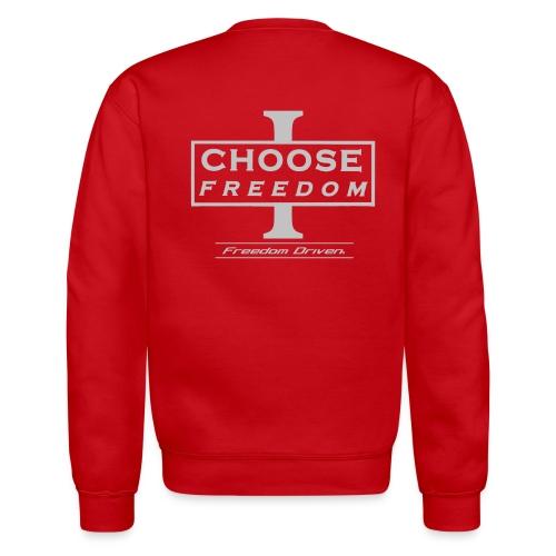 I CHOOSE FREEDOM Bruland Grey Lettering - Unisex Crewneck Sweatshirt
