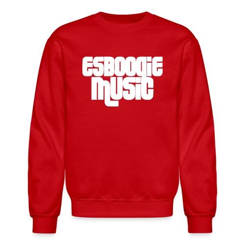 ESBOOGIEMUSIC WHITE LOGO - Crewneck Sweatshirt