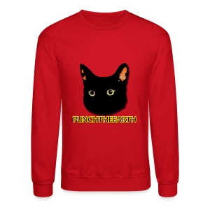 PunchTheEarth Cat with Text - Crewneck Sweatshirt