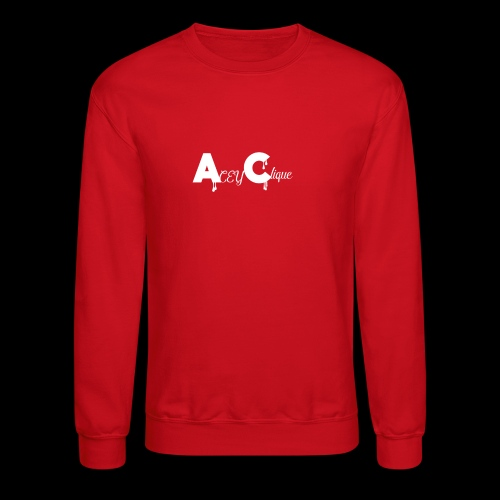 AceyClique White Logo - Crewneck Sweatshirt