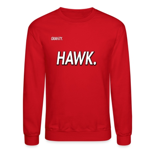 GRAViiTY Hawk (White Print) - Crewneck Sweatshirt