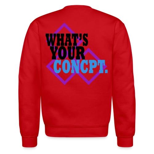WHAT'S YOUR CONCPT. Purple Tri-Square Back Print - Crewneck Sweatshirt